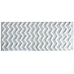 Nottingham Home 24-Inch x 60-Inch Chevron Bath Mat in Seafoam