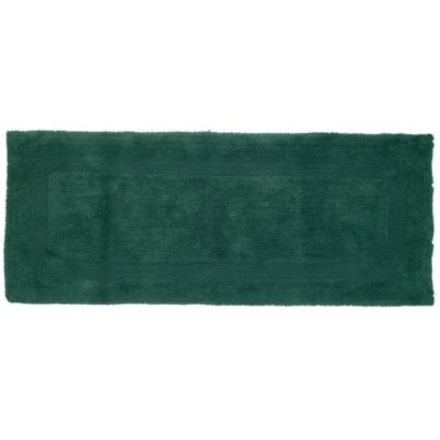 Exceptional Nottingham Home 24 Inch X 60 Inch Reversible Bath Rug In Green