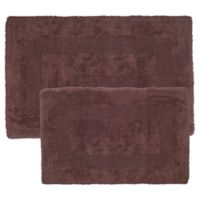 Nottingham Home Reversible Bath Mat in Chocolate (Set of 2)