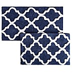 Nottingham Home Trellis Bath Mat (Set of 2) in Navy