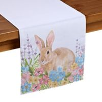 Homewear Linens Spring Garden Bunny 72-Inch Table Runner