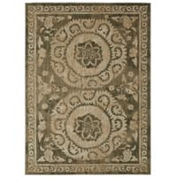 "Patina Vie by Karastan 5'3"" x 7'10"" Suzani Tapestry Area Rug in Grey"