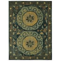 "Patina Vie by Karastan 5'3"" x 7'10"" Suzani Tapestry Area Rug in Indigo"