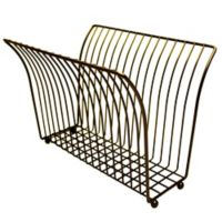 Taymor V-Shaped Magazine Rack in Black/Chrome