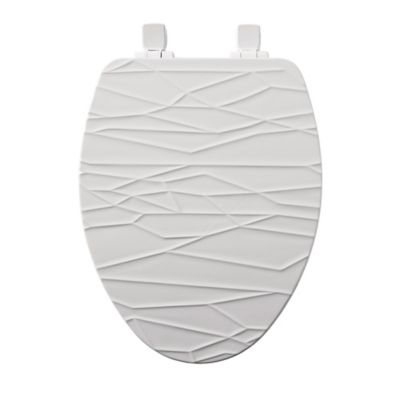 white sparkle toilet seat. Mayfair Elongated Closed Front Molded Wood Geometric Design Toilet Seat  with Whisper Close in White Buy Seats from Bed Bath Beyond