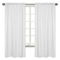Sweet Jojo Designs Feather Tribal Geometric Print 84-Inch Window Panels in Grey (Set of 2)