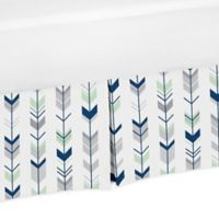 Sweet Jojo Designs Mod Arrow Crib Skirt in Navy/Mint