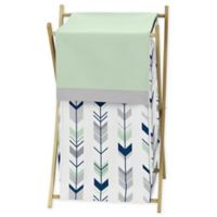 Sweet Jojo Designs Mod Arrow Laundry Hamper in Grey/Mint