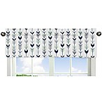Sweet Jojo Designs Mod Arrow Print Window Valance in Grey/Mint
