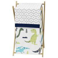 Sweet Jojo Designs Mod Dinosaur Laundry Hamper in Turquoise/Navy