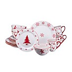 Euro Ceramica Winterfest 16-Piece Dinnerware Set