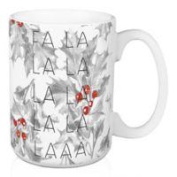 """Designs Direct """"Fa La La"""" Coffee Mug in Red"""
