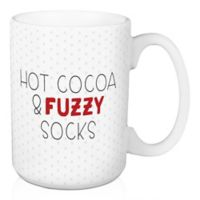 """Designs Direct """"Hot Cocoa and Fuzzy Socks"""" Coffee Mug in Red"""