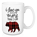 "Designs Direct ""I Love You More Than I Can Bear"" Coffee Mug in Black/Red"