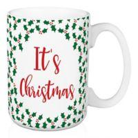 "Designs Direct ""Be Nice, It's Christmas"" Coffee Mug in Green"