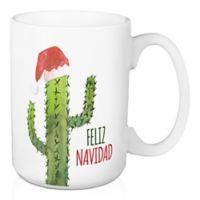 """Designs Direct """"Feliz Navidad"""" Cactus Coffee Mug in Green"""