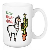 "Designs Direct ""Feliz Navidad"" Llama Coffee Mug"