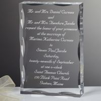 Our Wedding Invitation Engraved Keepsake