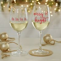 Christmas Celebrations 12 oz. White Wine Glass