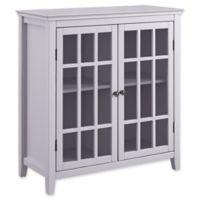 Linon Home Leslie Double Door Cabinet in Grey