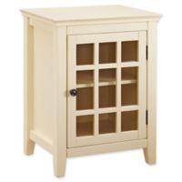 Linon Home Leslie Single Door Cabinet in Yellow