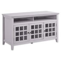 Linon Home Leslie Media Cabinet in Grey