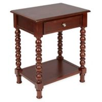Silverwood Caroline Turned Leg Accent Table in Brown