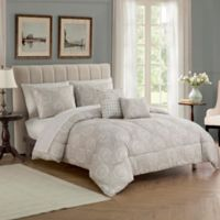 Ohana 9-Piece California King Comforter Set in Tan