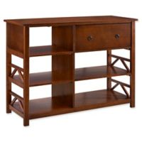 Linon Home Titian Media Center in Tobacco