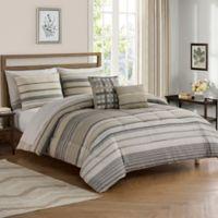 Roanoke 9-Piece King Comforter Set in Grey