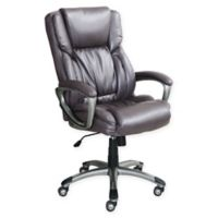 Serta® Works Bonded Leather Executive Chair in Harvard Grey