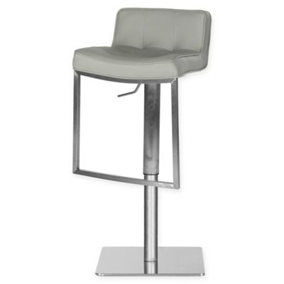 Safavieh Newman Faux Leather Swivel Bar Stool In Grey