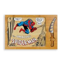 Picnic Time® Spiderman Icon Wood Cutting Board & Knife Set