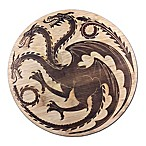 Game of Thrones Targaryen Dragon Sigil 9-Inch x 9-Inch Bamboo Cutting Board