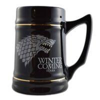 Game of Thrones Stark Direwolf Sigil Ceramic Stein