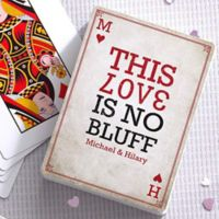 Our Love Is No Bluff 54-Count Playing Cards
