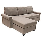 Serta® Copenhagen Left-Facing Reclining Sectional Sofa with Storage in Mushroom