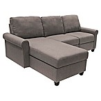 Serta® Copenhagen Left-Facing Reclining Sectional Sofa with Storage in Grey