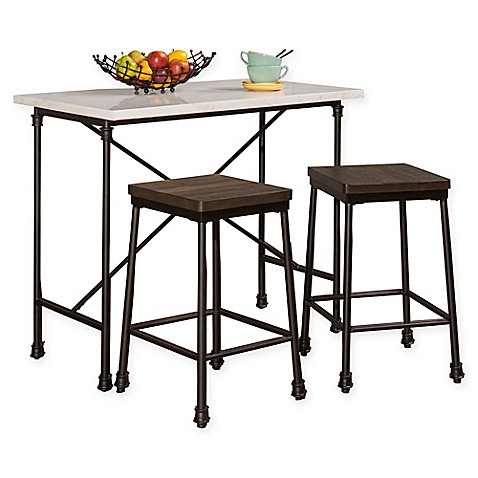 buy hillsdale furniture castille 3 piece counter height table set in black from bed bath beyond. Black Bedroom Furniture Sets. Home Design Ideas