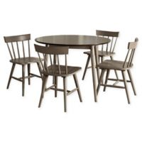 Hillsdale Furniture Mayson 5-Piece Spindle Back Dining Set in Grey