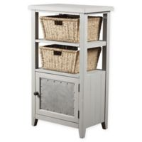 Hillsdale Furniture Tuscan Retreat® 2-Basket Stand with Wire Door in Taupe