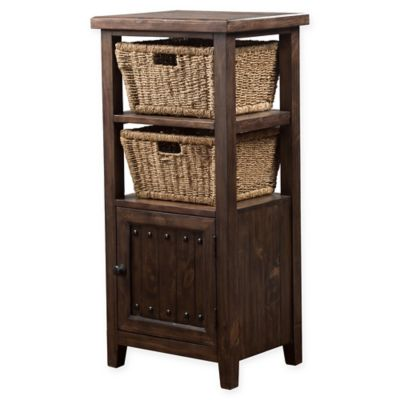 Hillsdale Furniture Tuscan Retreat® 2 Basket Stand With Wire Door In Brown