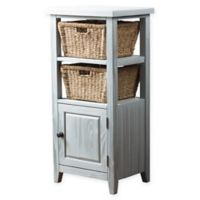 Hillsdale Furniture Tuscan Retreat® 2-Basket Stand with Wire Door in Blue