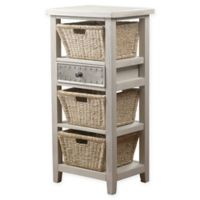 Hillsdale Furniture Tuscan Retreat™ 3-Basket Storage Stand in Taupe