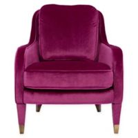 Chic Home Gila Accent Chair in Plum