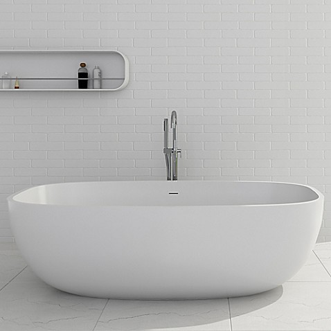 Cheviot Giorgio 67-Inch Solid Surface Bathtub in White - Bed Bath ...
