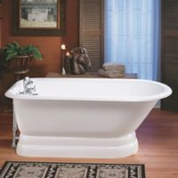 Cheviot Regency 61-Inch Cast Iron Bathtub with 8-Inch Drill and Pedestal Base in White