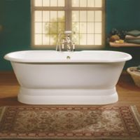 Cheviot Regal 70-Inch Cast Iron Bathtub with 7-Inch Drill and Pedestal Base in White