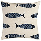 Nautica® Lockridge Embroidered Fish Square Pillow in Ivory