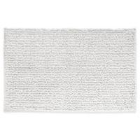 iDesign® 30-Inch x 20-Inch Microfiber Frizz Bath Rug in White